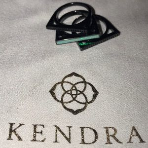 Kendra Scott Gunmetal/opal Lucia Ring s6 NWOT RARE